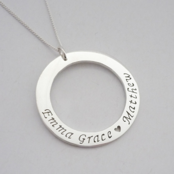 handmade with charm made car products round statement pendant necklace jewellery initial personalised customised